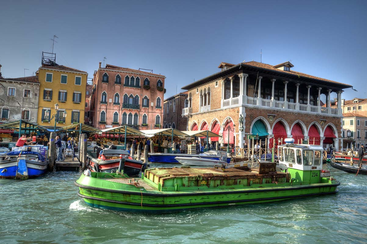 Rialto Markets in Venice, Italy