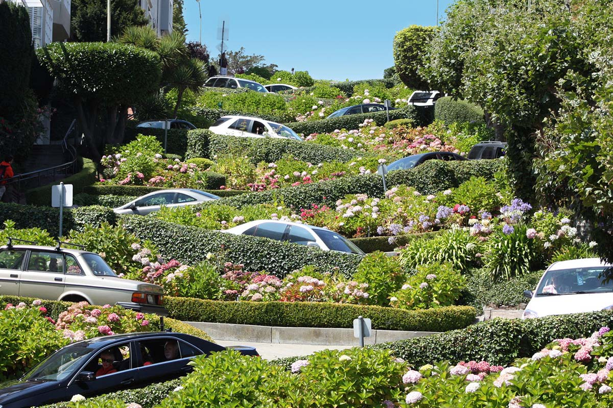 Lombard Street  in San Francisco, United States