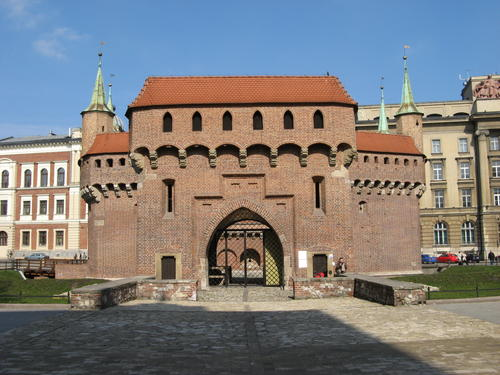 Krakow Barbican in Krakow, Poland