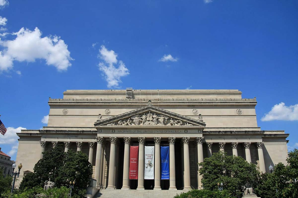 The U.S. National Archives in Washington, United States