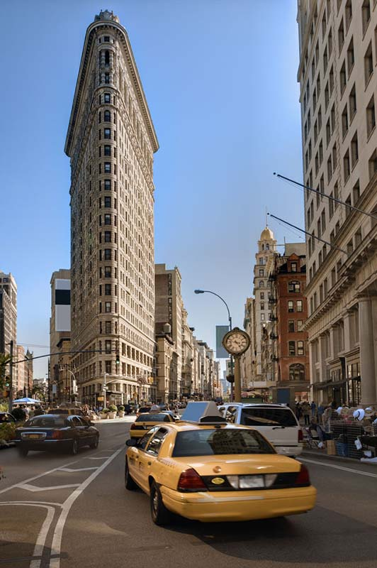 Flatiron Building in New York, United States
