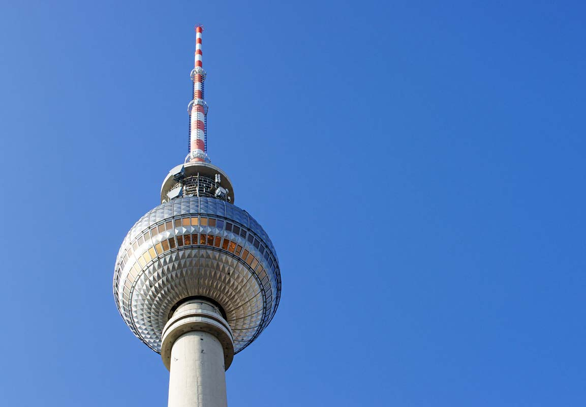 Berlin television tower in Berlin, Germany