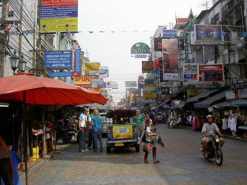 Khao San Road in Bangkok, Thailand