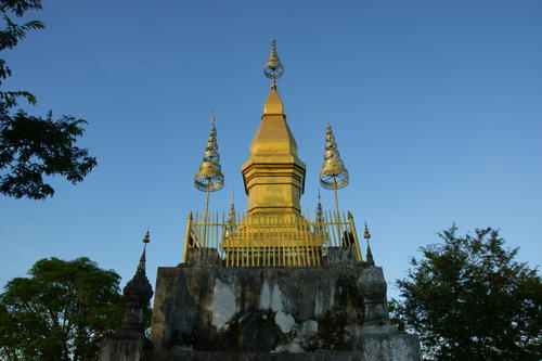 Mount Phou Si in Luang Prabang, Laos