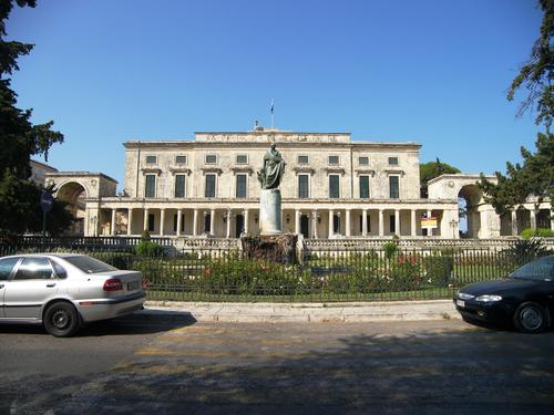 The Palace of Saint Michael & George in Corfu Town, Greece