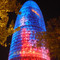 Agbar Tower in Barcelona, Spain