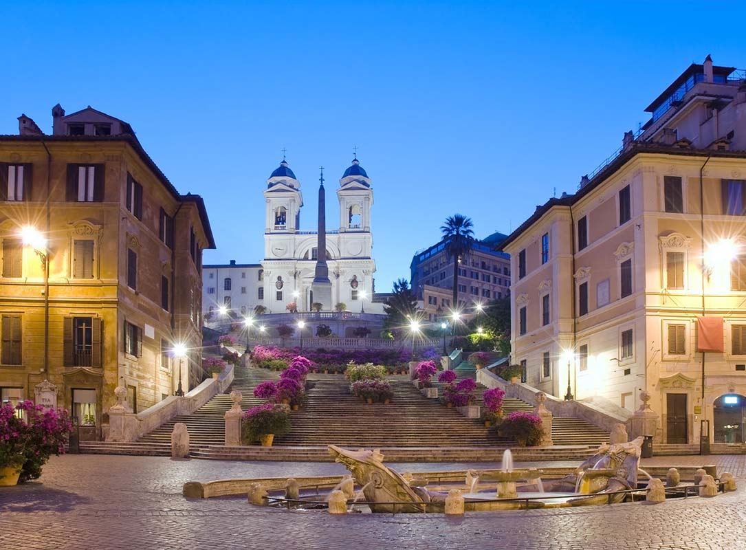 Spanish Square &amp; the Spanish Steps in Rome, Italy