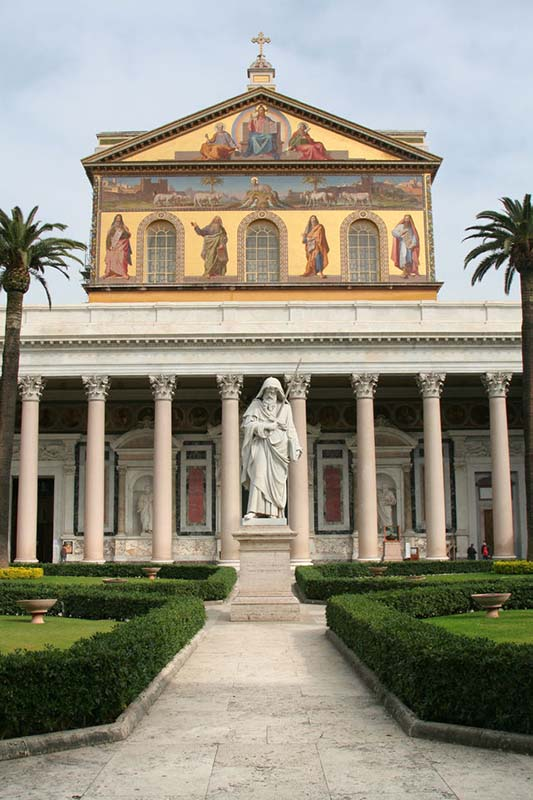 Papal Basilica of St Paul Outside the Walls in Rome, Italy