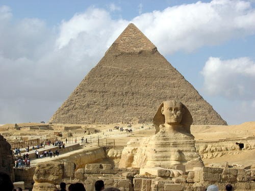Pyramid of Khafre in Cairo, Egypt