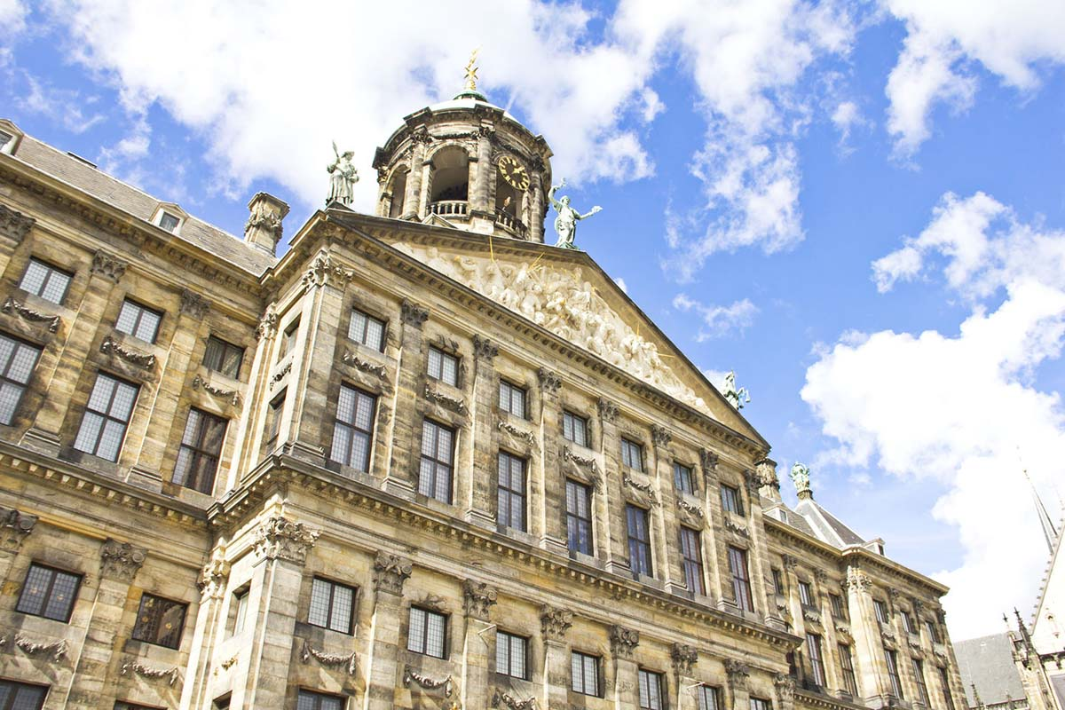 Royal Palace of Amsterdam in Amsterdam, Netherlands